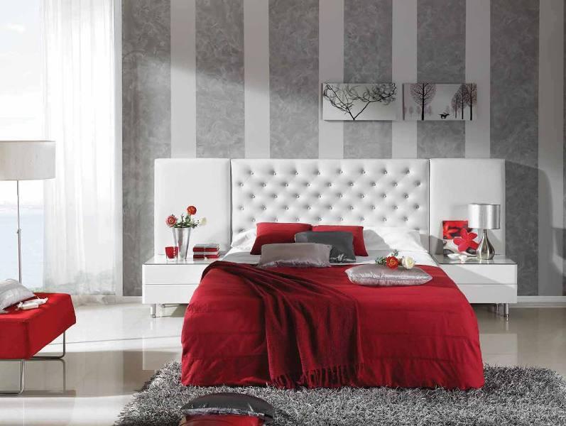 Cabecero cama blanco tapizado a medida reformas y - Cabecero tapizado blanco ...