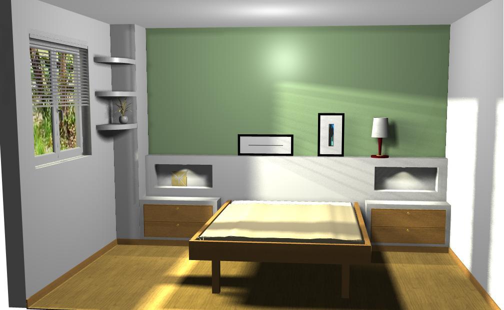 Cabecero de cama de pladur reformas y decoraci n de - Muebles de pladur para salon ...