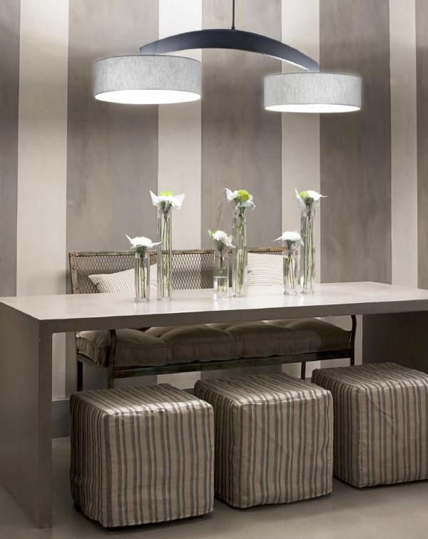 Lampara comedor dos pantallas tela reformas y decoraci n - Lamparas para salon comedor ...