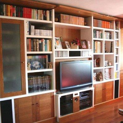 Mueble sal n a medida pladur reformas y decoraci n de - Muebles de obra para salon ...