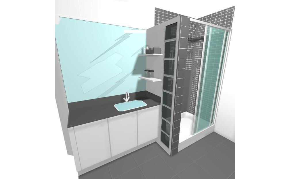 Proyecto cambio de ba era por plato de ducha con muro de - Duchas con muro ...