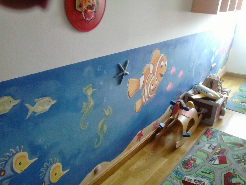 Pintura mural en el dormitorio infantil reformas y - Pintura para dormitorios infantiles ...