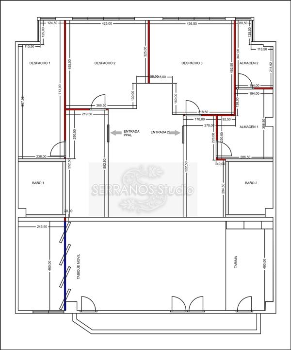 Plano distribucion oficinas reformas y decoraci n de for Distribucion de oficinas en una empresa