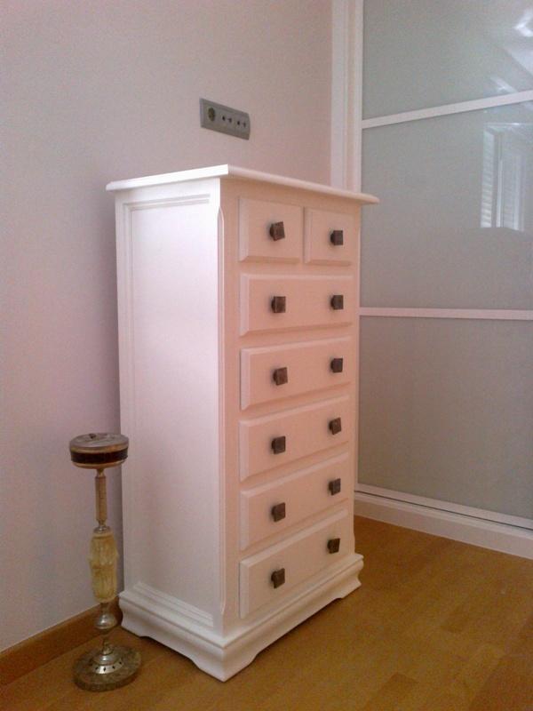 Muebles Baño Blanco Roto:Chifonier lacado blanco roto – Reformas y Decoración de Interiores
