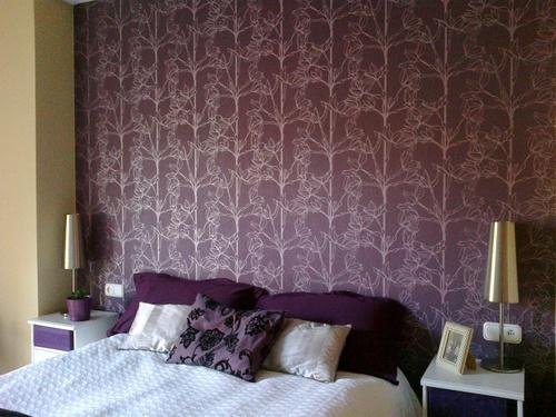 Pintura y papel pintado personalizar ambientes la clave for Cabeceros de cama con papel pintado