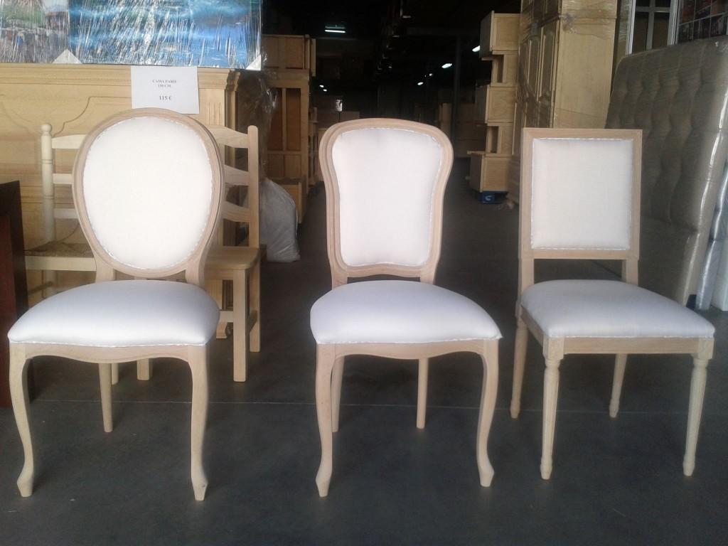 Modelos de sillas en bruto para tapizar y lacar reformas for Tapizar sillas precio