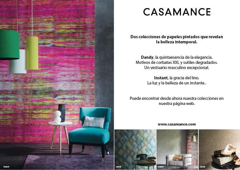 Nuevas colecciones oto o de papel pintado casamance for Casamance papel pintado