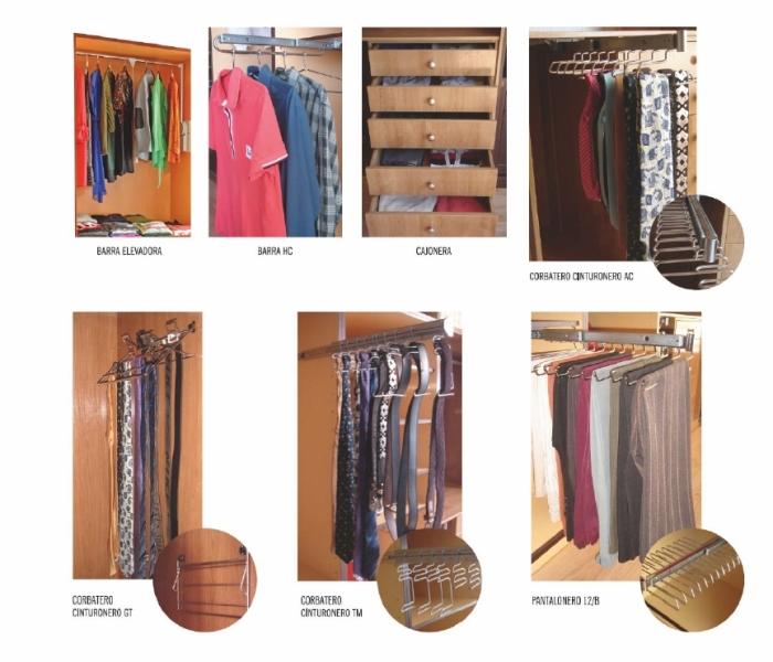 Accesorios para interiores de armario barras elevadoras for Accesorios para decoracion de interiores