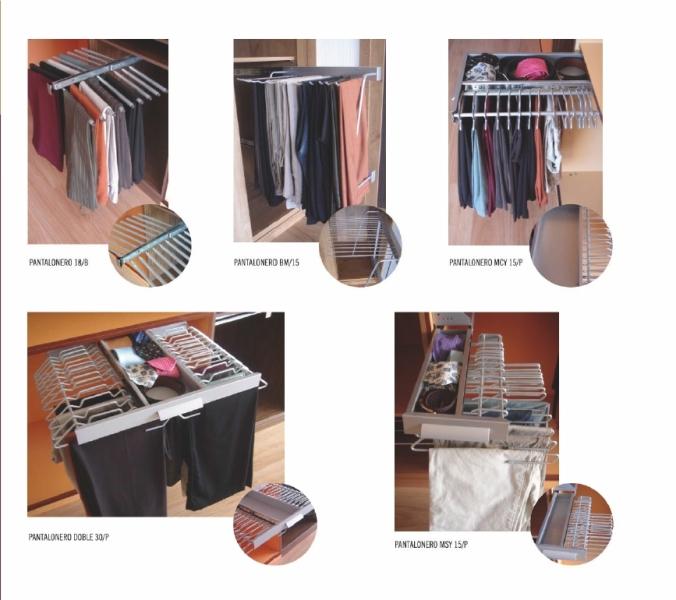 Accesorios para interiores de armario pantaloneros for Accesorios para interiores de armarios de cocina