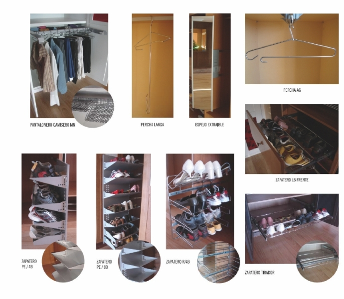 Accesorios para interiores de armario zapateros - Accesorios para armarios roperos ...