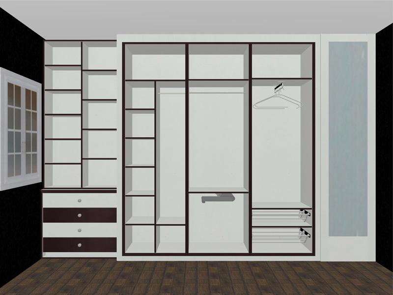 Dise o distribuci n interior armario reformas y for Distribucion de armarios empotrados por dentro