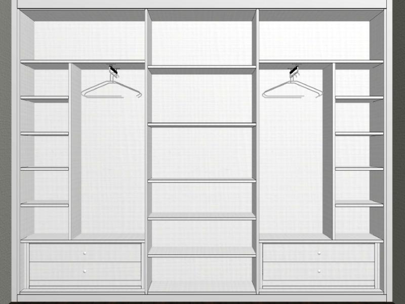 Interior armario fondo reducido a medida reformas y for Armario fondo 50