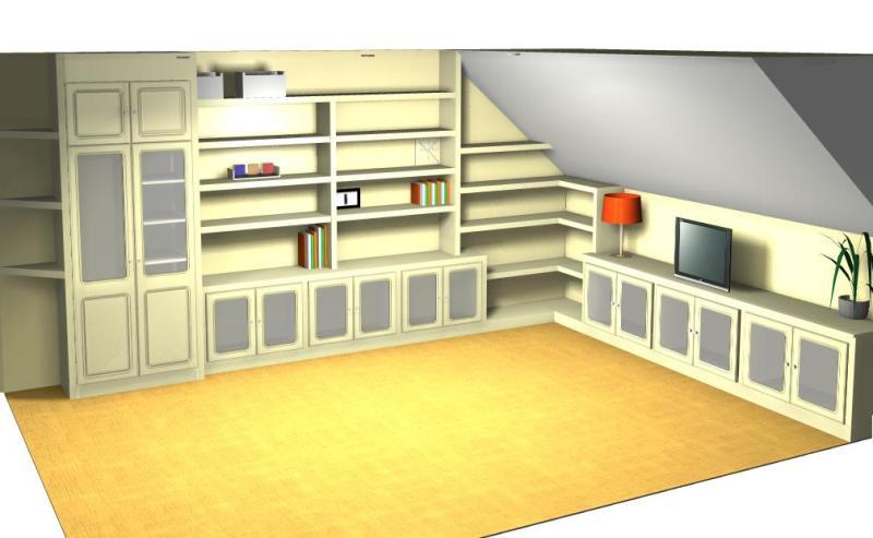Proyecto libreria buhardilla a medida pladur reformas y - Medidas de pladur ...