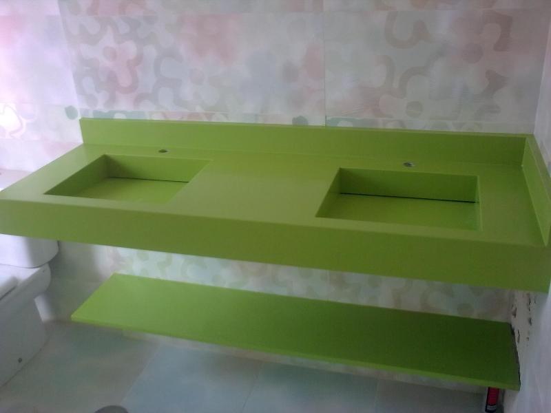 Baño De Ninos Medidas:Encimera de baño con lavabos integrados a medida Silestone