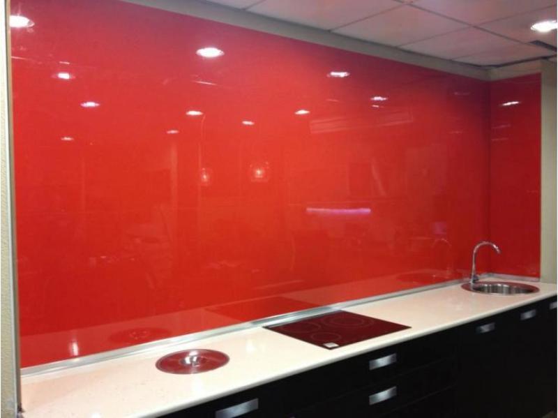 Panel laca brillo rojo para revestimientos de paredes de - Cubrir azulejos sin obra ...