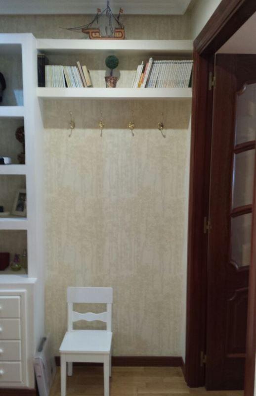 Detalle vista desde el pasillo papel pintado recibidor - Papel pintado pasillo ...