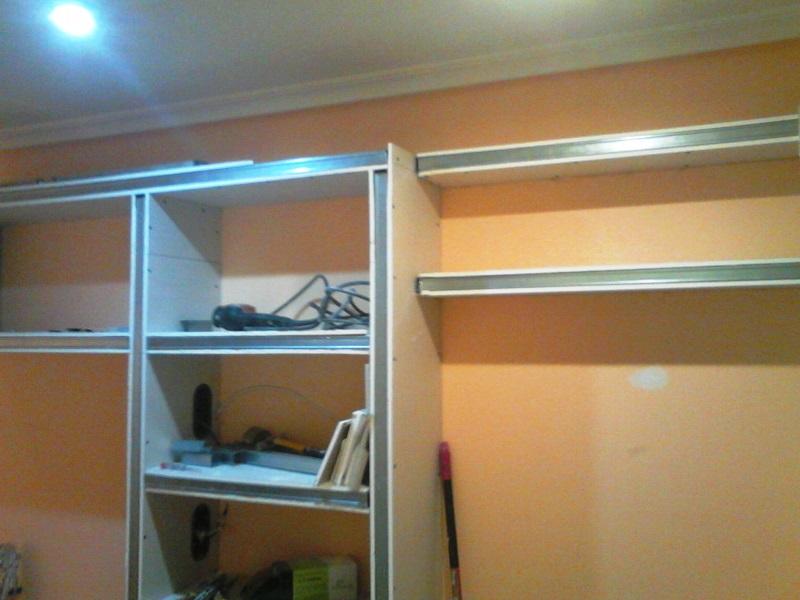 Montaje de mueble de pladur reformas y decoraci n de interiores en le n - Muebles de pladur para salon ...