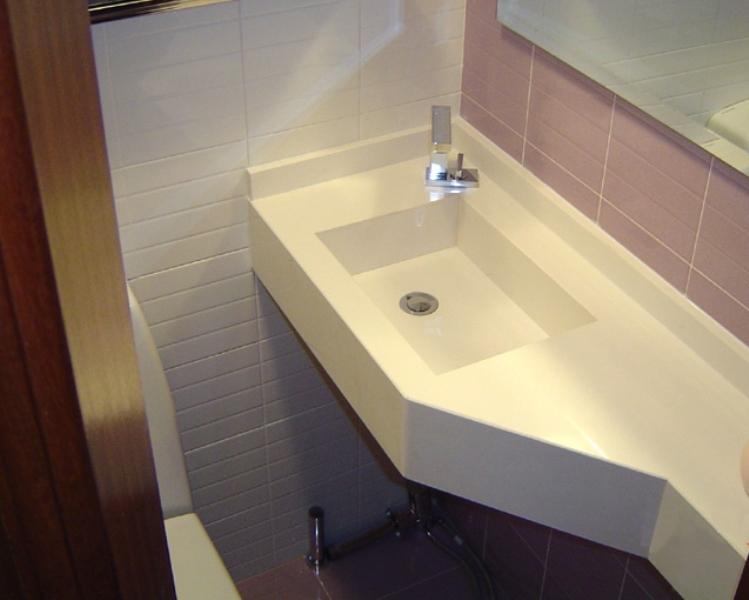 Lavabos Para Baños Reducidos:Lavabo a medida de silestone espacios difíciles y reducidos baño