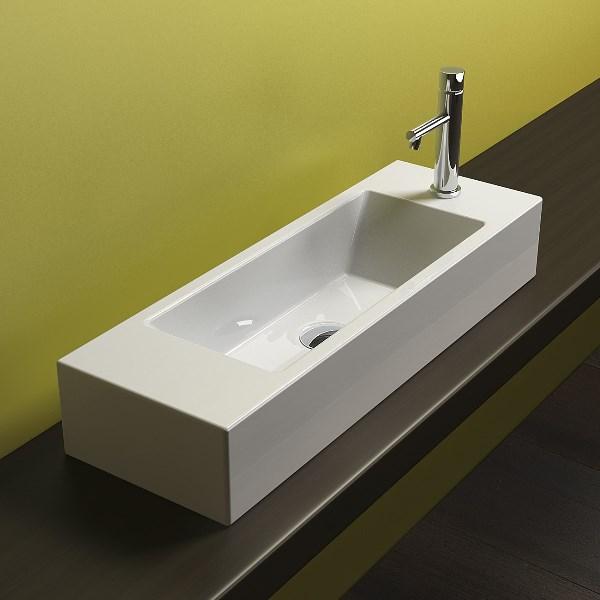 Lavabos Para Baños Estrechos:Lavabo sobreencimera rectangular muy estrecho Catalano – Reformas y