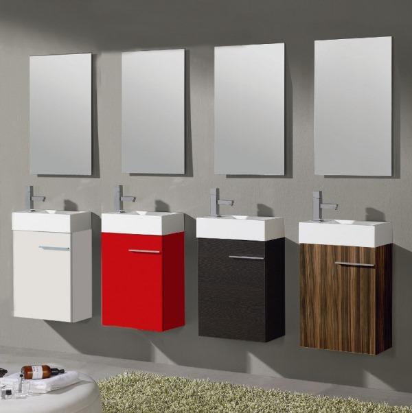 Muebles ba o colores para lavabos peque os reformas y for Lavabos pequenos con mueble